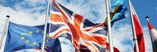flags, UK, EU